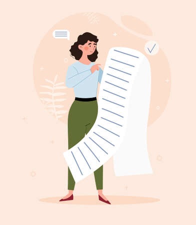 Long shopping list concept