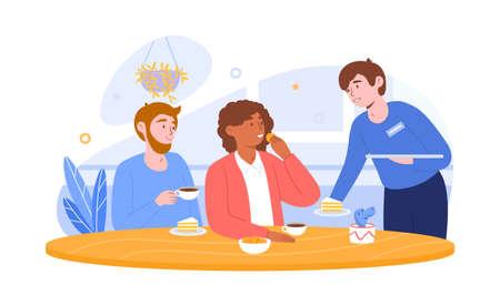 Coffee Shop or Cafe concept Illustration