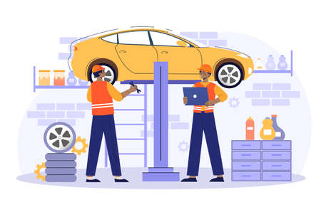 Car service and repair concept