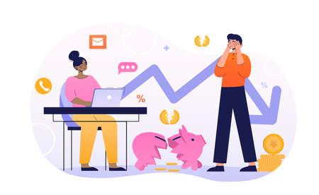 Business bankruptcy concept