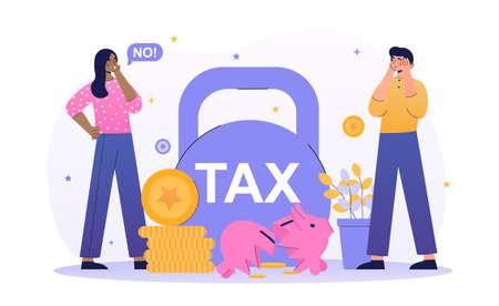 Big taxes concept