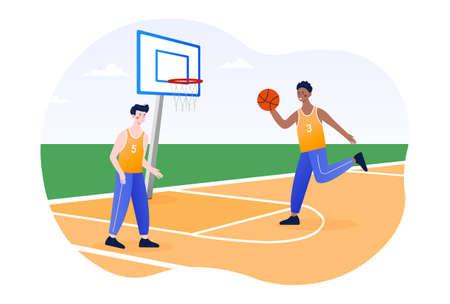 Basketball Academy Concept Illustration