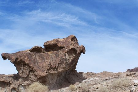 Rock at Calico Ghost Town