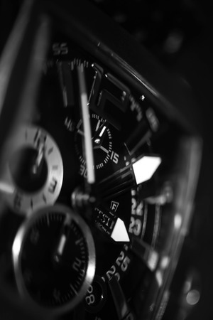 timeless: detail of a watch