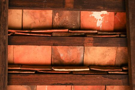 Old wood wall and ceiling  photo