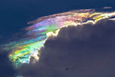 diffraction: A rare sight  iridescent clouds  Diffraction can make clouds