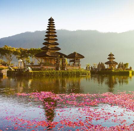 ulun: Pura Ulun Danu temple on a lake Beratan  Bali Stock Photo
