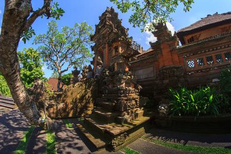 saraswati: Ancient temple Pura Desa at the village near Ubud on Bali, Indonesia