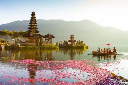 Pura Ulun Danu temple on a lake Beratan  Bali Editorial