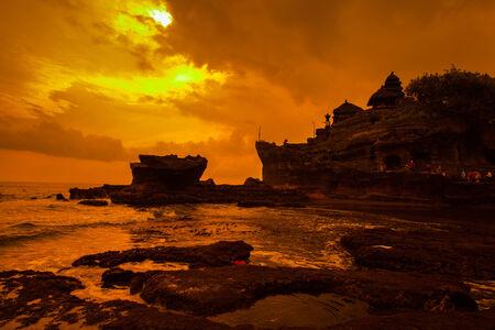 bratan: Tanah Lot Temple on Sea in Bali Island Indonesia