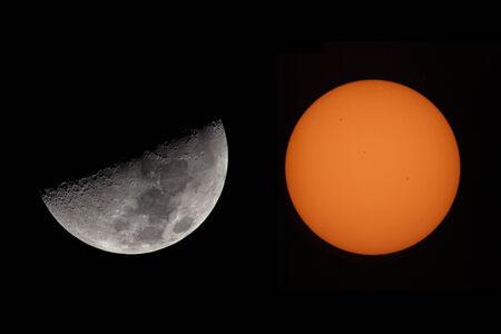 Sun And Moon  Stock Photo - 28461524