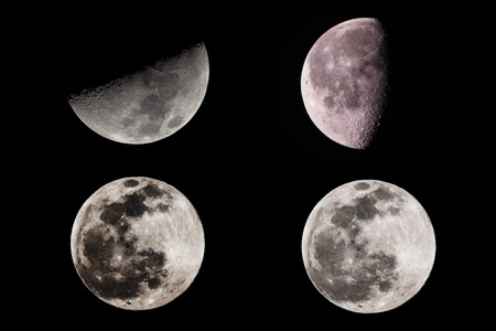 phases: Moon Phases  Stock Photo