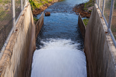 hydroelectricity: Time exposure of the spillway
