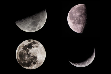 phase: phase of moon  Stock Photo