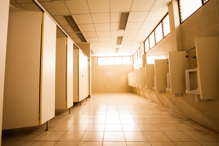 The large Public toilet   Urinals  photo