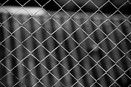 chain fence: Iron chain fence  background.