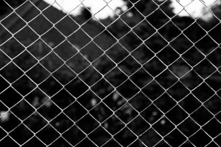 Iron chain fence  background. photo
