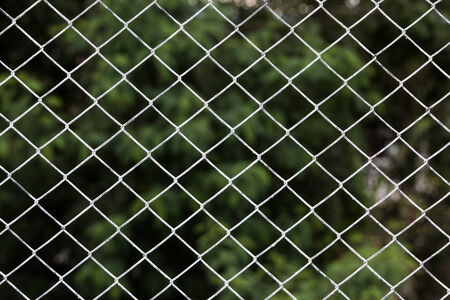 Iron chain fence  background. photo