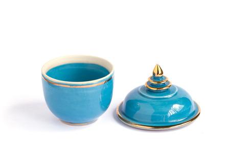 Thai ceramic bowls. photo