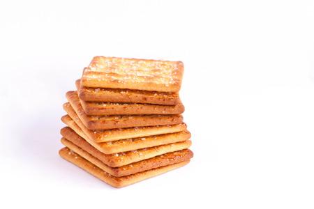 Stack of butter craker.