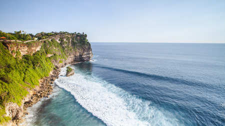 view of a cliff in Bali Indonesia. photo