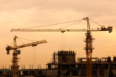 unfinished building: Construction site. Stock Photo