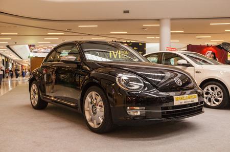 Lampang Motor Show-7 Nov 2014 ,showing Black volkswagen beetle.
