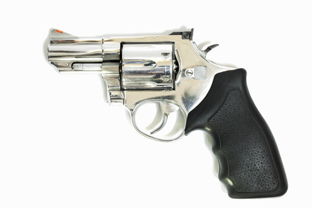 38 caliber: .38mm Revolvers on white