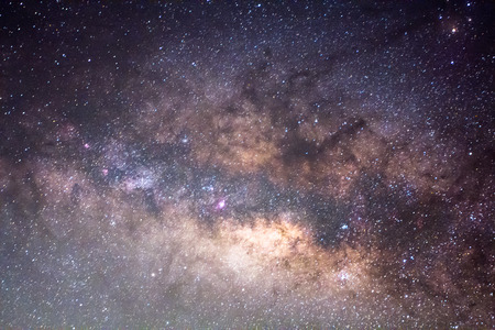 space: The Panorama Milky Way ,Long exposure photograph.
