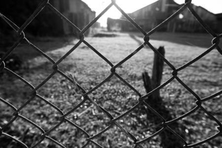 chain fence: Iron chain fence .