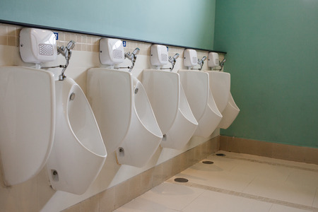 The large Public toilet  Urinals. photo