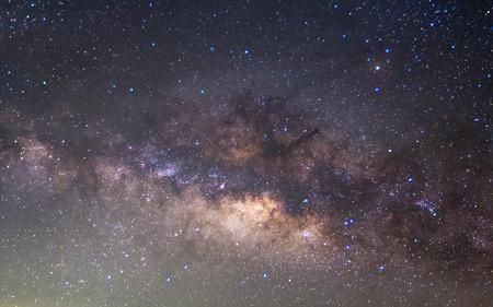 Das Panorama Milky Way Langzeitbelichtung Foto. Standard-Bild - 39586076