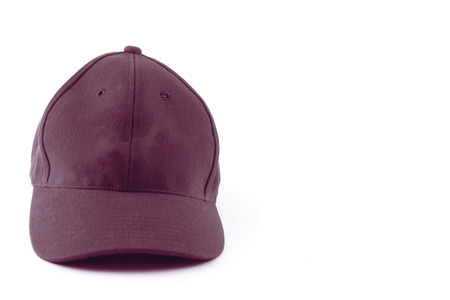 brown Cap isolated white .