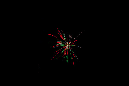 fires artificial: Firework on the black sky background. Stock Photo