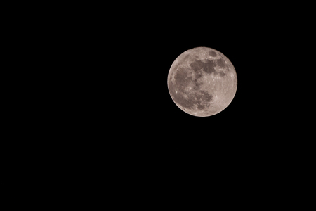 waxing gibbous: Full Moon Over Sky At Night.Super Moon 28 Sep 2015 Stock Photo