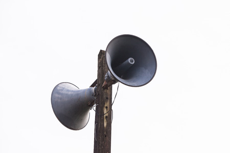 loudspeaker: Vintage loudspeaker. Stock Photo