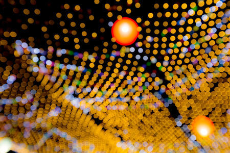 newyear: abstract background colorful blur bokeh circles for Christmas or newyear background. Stock Photo