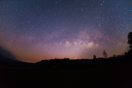 vulpecula: The Milky Way ,Long exposure photograph.with grain