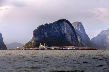 panyi: Phang Nga bay, muslim village at Panyi or Panyee island, South of Thailand Editorial