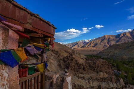 lamaism: Lamayru Monastery, view of Lamayuru monastery in Leh-Ladakh, India. Lamayuru is a Tibetan Buddhist monastery at a height of 3,510 metres. Editorial