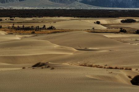kashmir: sand dunes against the background,Leh Ladakh, Himalaya, Jammu & Kashmir, Northern India