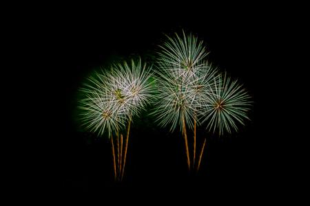 aerial bomb: New Year celebration fireworks Stock Photo