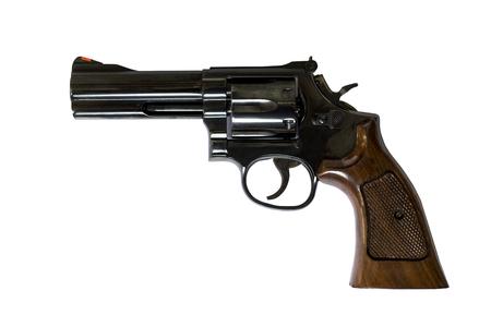 4 インチ.38 口径リボルバー ピストル ロード シリンダー銃バレルをクリッピング パスを閉じる 写真素材