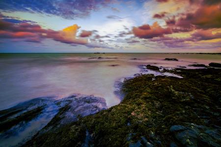 Landscape khao lak beach Phang Nga Thailand, vivid color Stock Photo