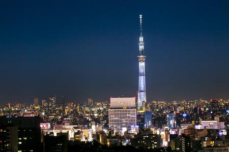 Tokyo, Japan - AUG 20 2019 : View of tokyo skytower twilight sunset