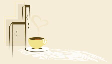 sip: Caf� en la ciudad Vectores