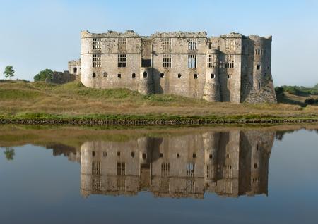 Carew Castle reflection, Pembrokeshire, United Kingdom