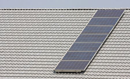 solarpanel: Solar panels on the roof of a private home