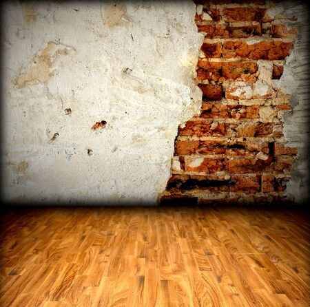 brick wall and wood floor Stock Photo - 8146248