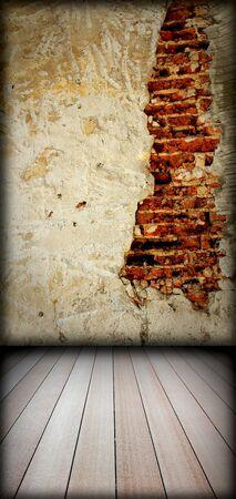 brick wall and wood floor Stock Photo - 8146249